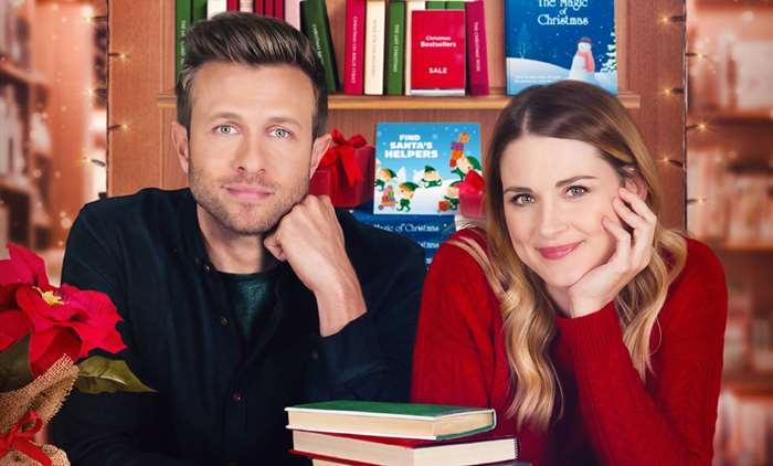Alexandra Breckenridge and Jamie Spilchuk in Christmas Around The Corner