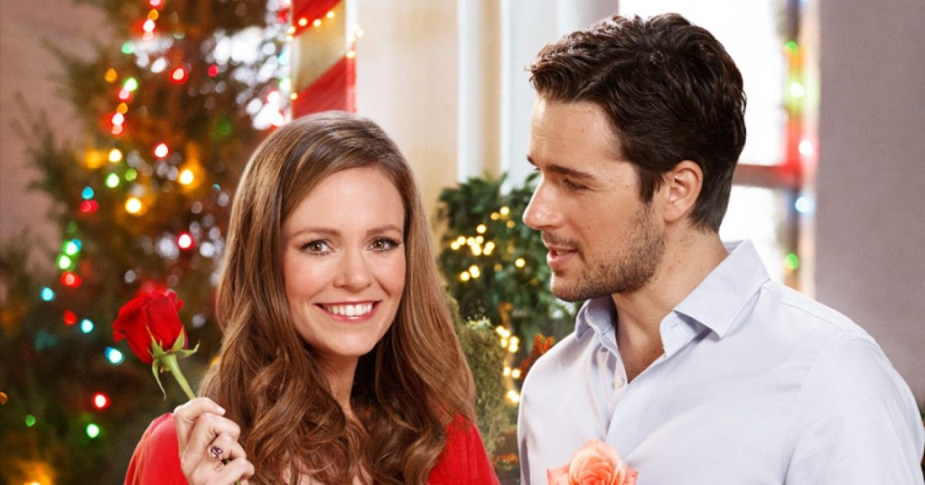 Rachel Boston and Marc Bendavid in A Rose For Christmas