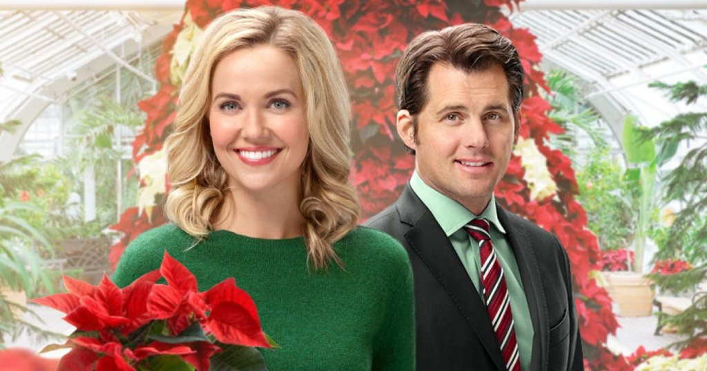 Emilie Ullerup and Kristoffer Polaha in Hearts Of Christmas