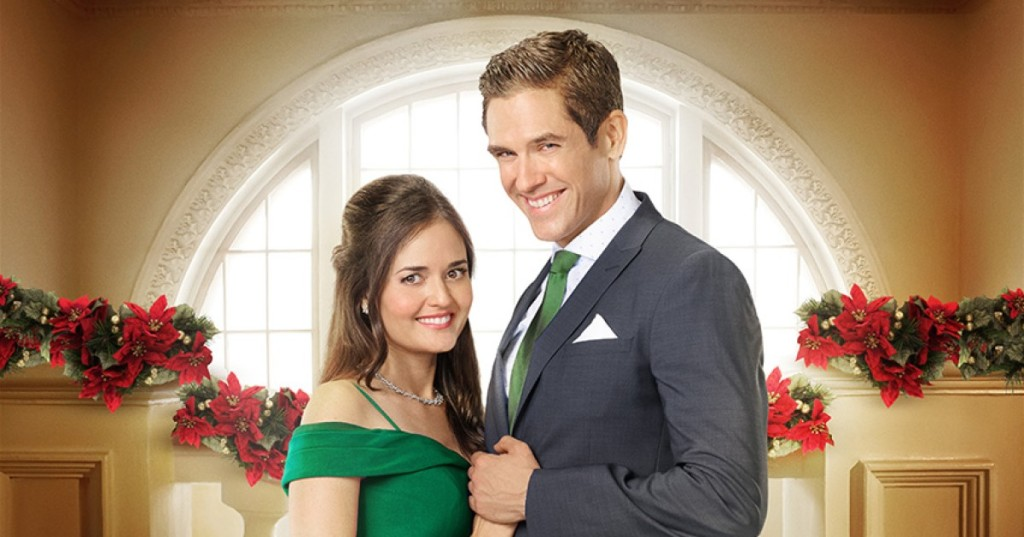 Danica McKellar and Neal Bledsoe in Coming Home For Christmas
