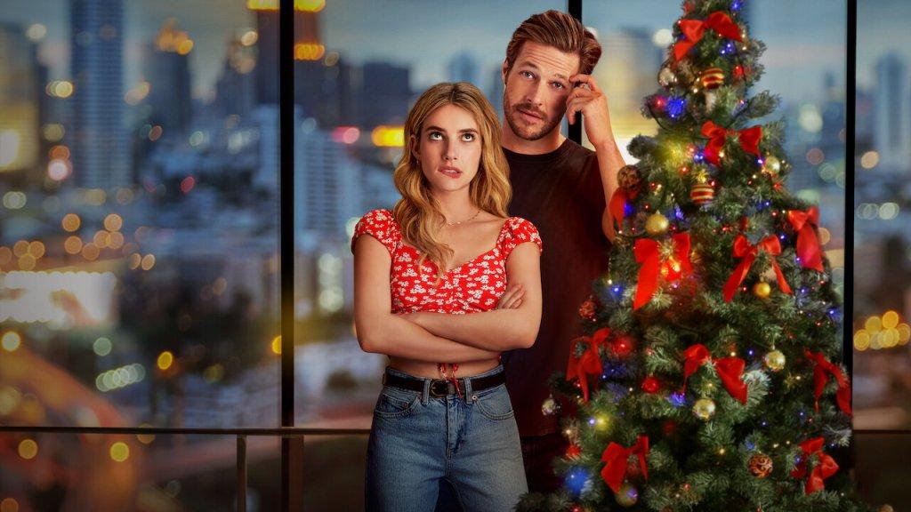 Emma Roberts and Luke Bracey in Netflix Original Christmas Movie: Holidate