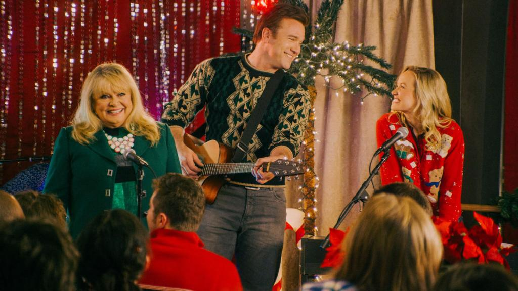 Kelley Jakle and Adam Mayfield in Christmas Harmony
