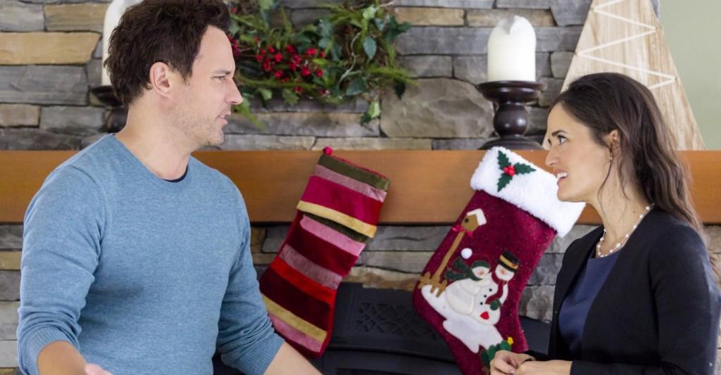 Danica McKellar and David Haydn-Jones in My Christmas Dream