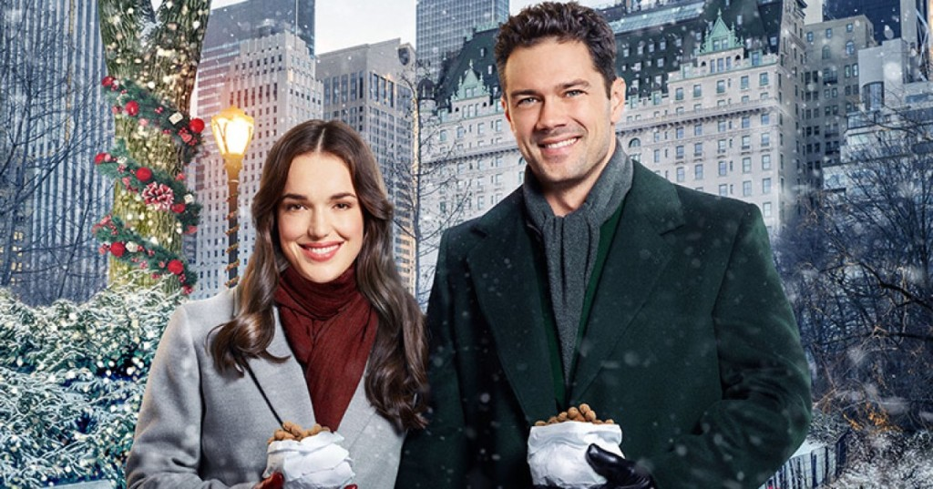 Elizabeth Henstridge and Ryan Paevey in Christmas At The Plaza